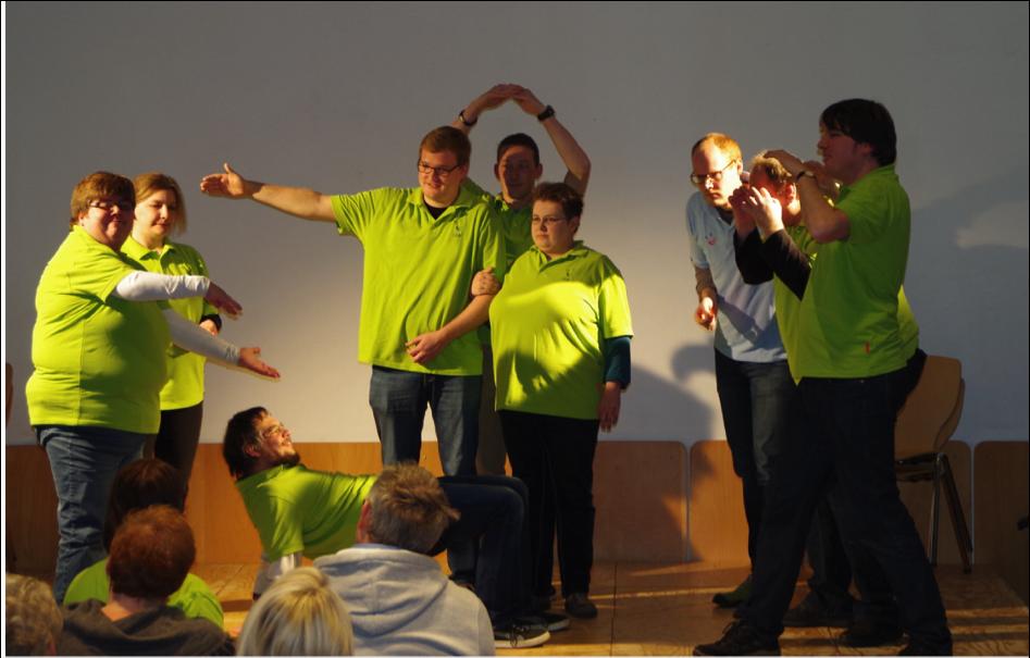 Kooperationsprojekt Ledder Werkstätten – EFS: Improtheater!