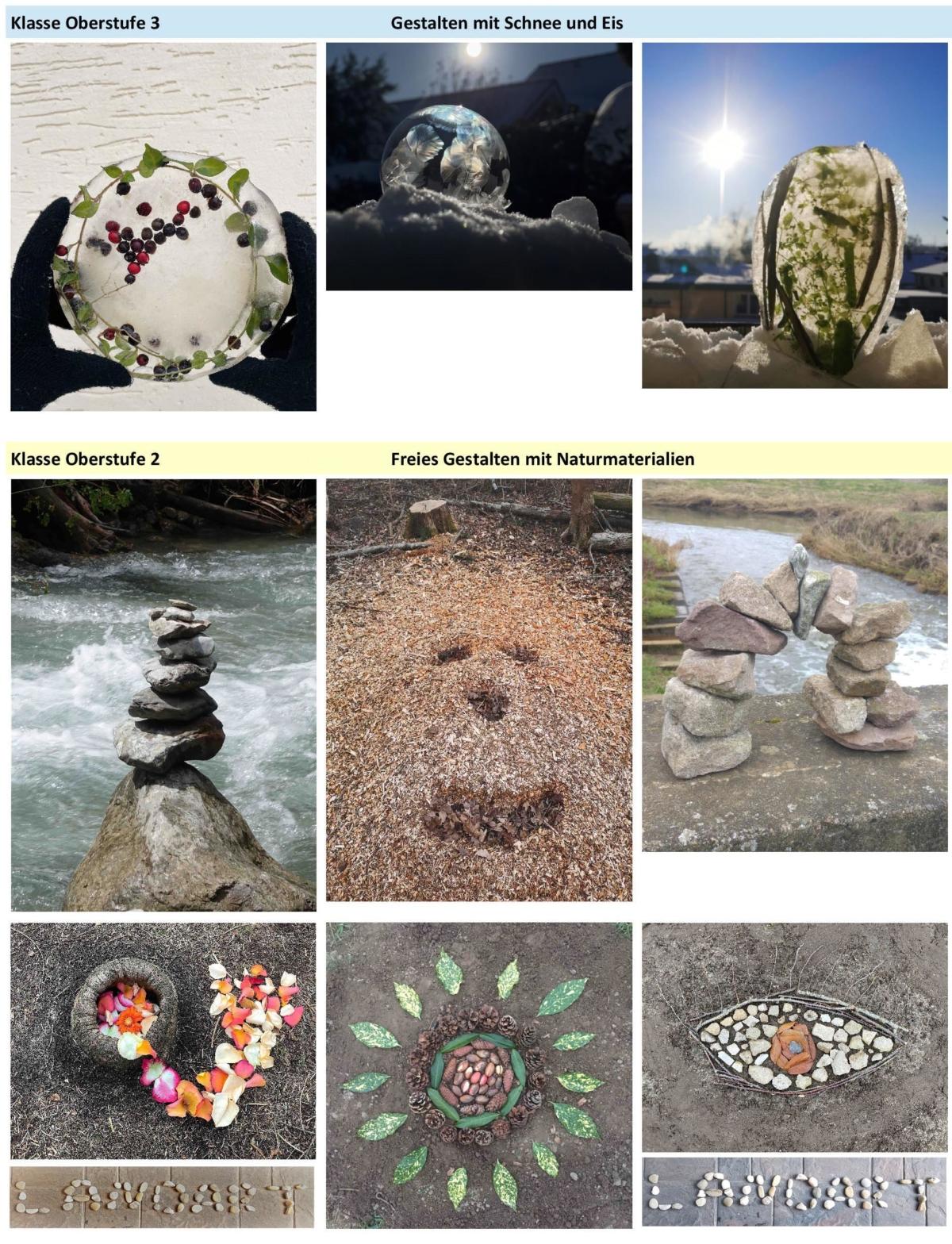 Gestalten mit der Natur… in der Natur…