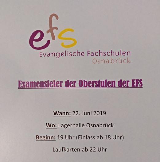 Vorverkauf: Examensparty der Oberstufen in der Lagerhalle am 22. Juni 2019 ab 18 Uhr