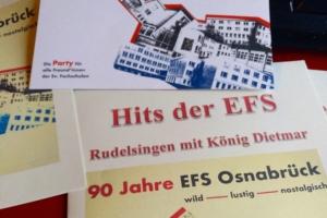 Geburtstagsparty zum 90. Geburtstag der EFS – Tolle Stimmung am 8.3.19  in der Lagerhalle Osnabrück
